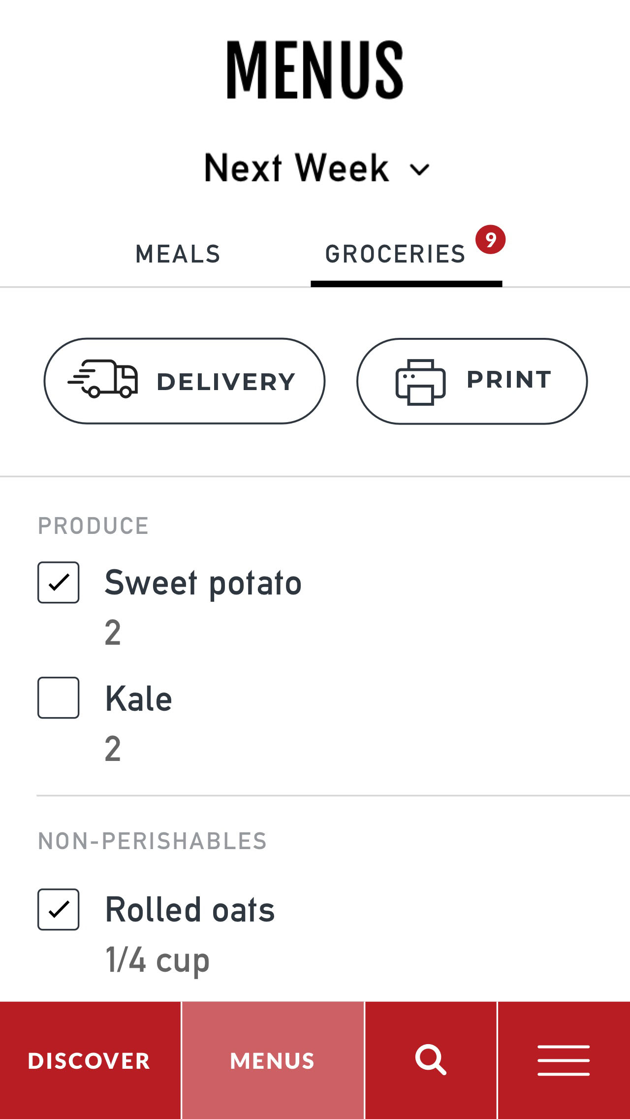 The e2 meal planner add recipes to your menu get groceries and throw together delicious meals forumfinder Images