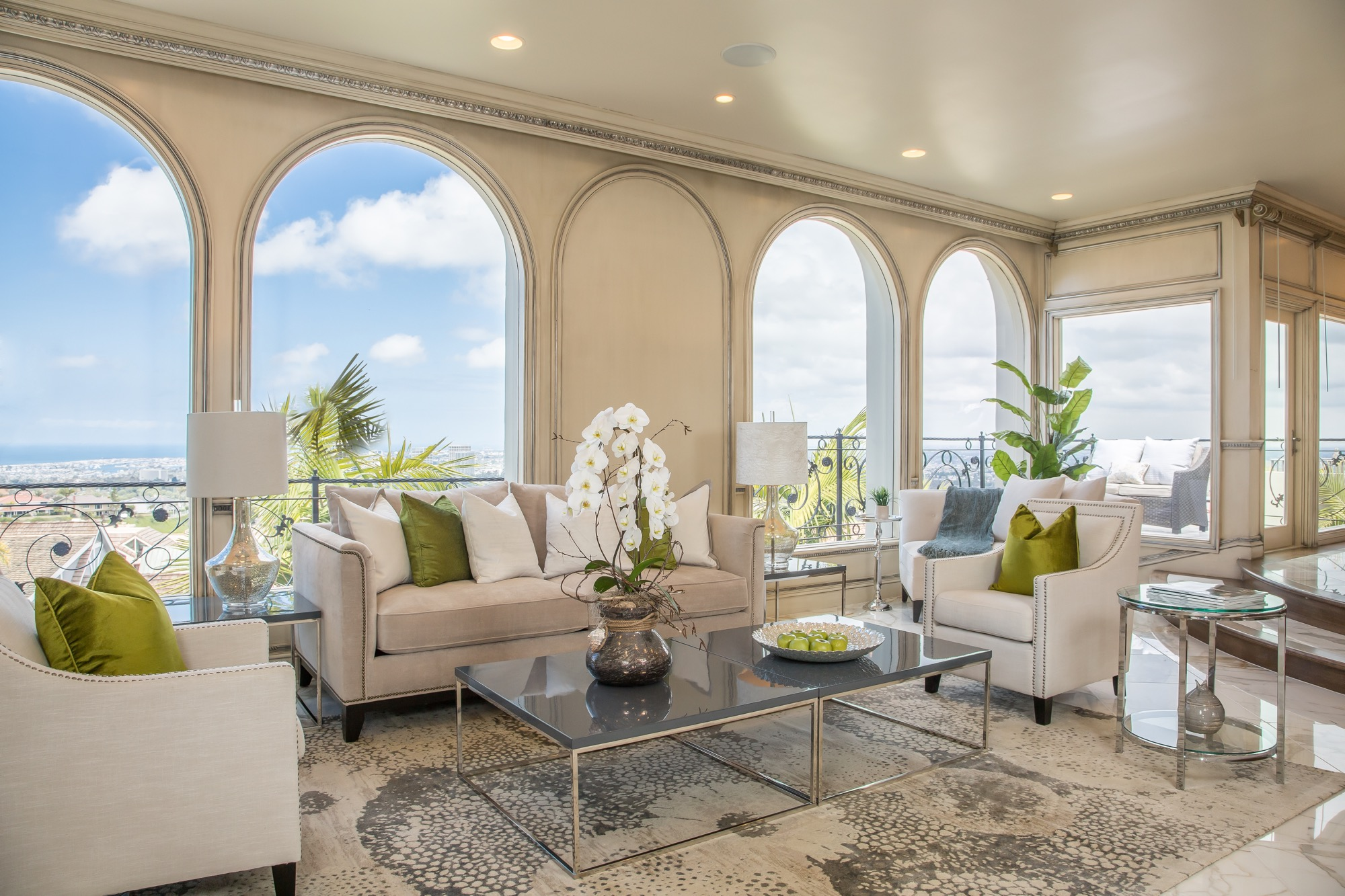 Coastal furniture and beach decor white orchid interiors - Decoration home staging ...