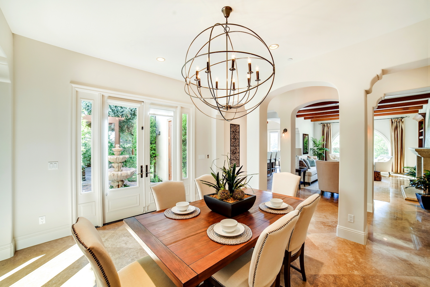 california dining room interior design California Mediterranean Dining Room