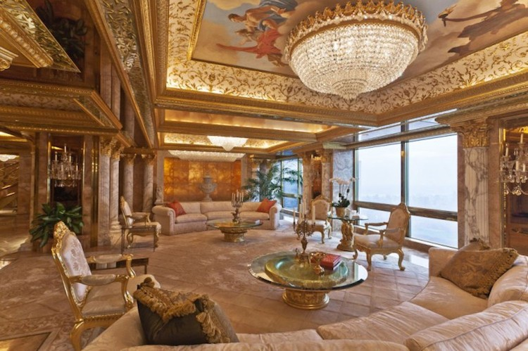 donald trump home staging