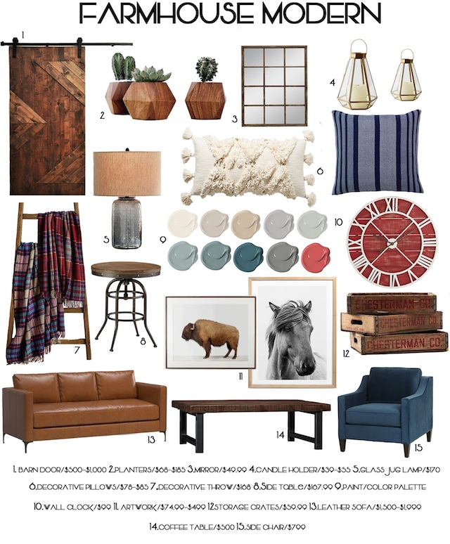 farmhouse home staging moodboard