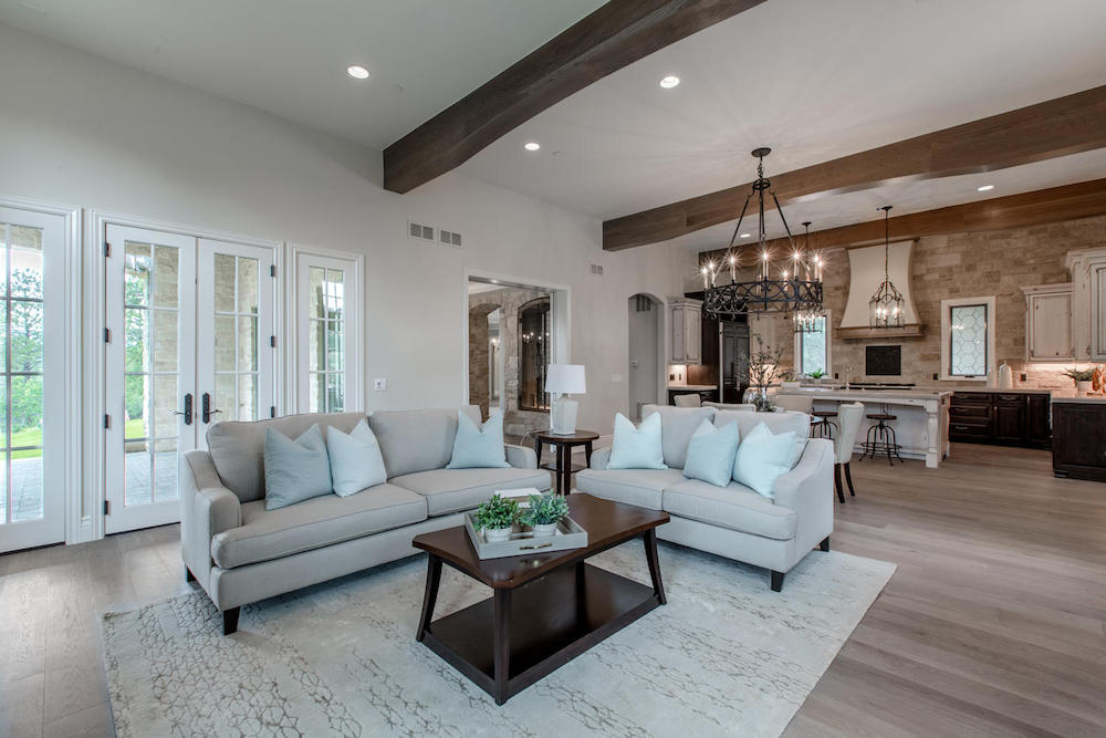 rustic contemporary staging