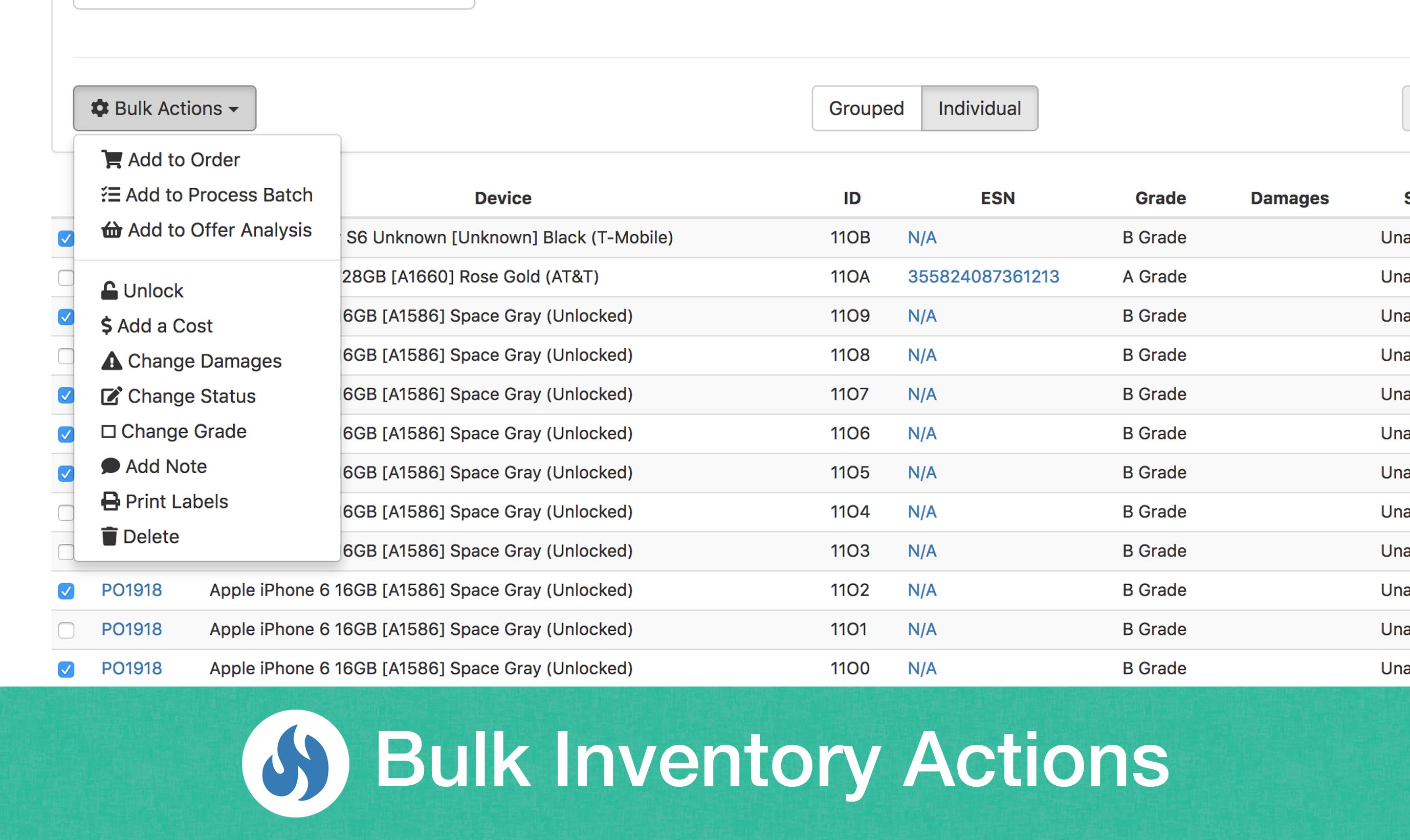 Blog bulk inventory actions