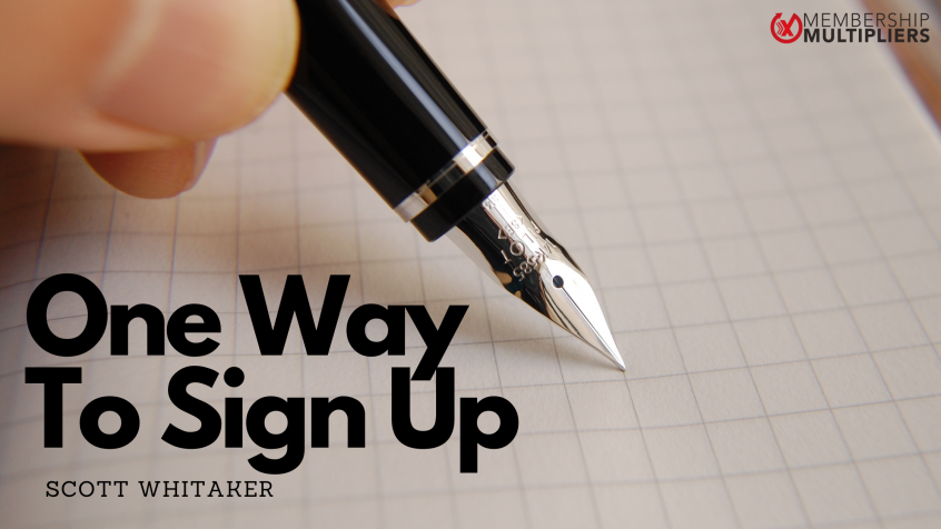 One Way To Sign Up