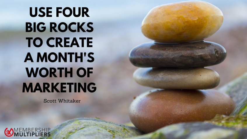 Use Four Big Rocks To Create A Month's Worth Of Marketing