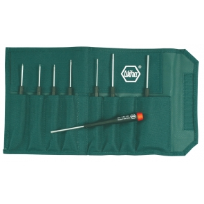 Precision Hex Inch Screwdrivers 8 Piece Set in Canvas Pouch
