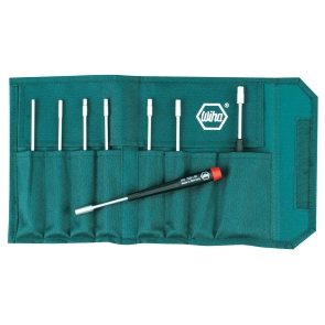 Precision Metric Nut Driver 8 Piece Set in Canvas Pouch