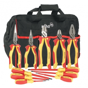 Insulated Drivers/Pliers 11 Piece Set in Canvas Tool Bag