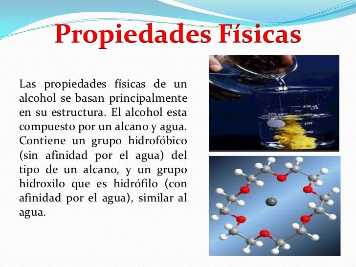Las propiedades f sicas propiedades f sicas qu mica - Usos del alcohol ...