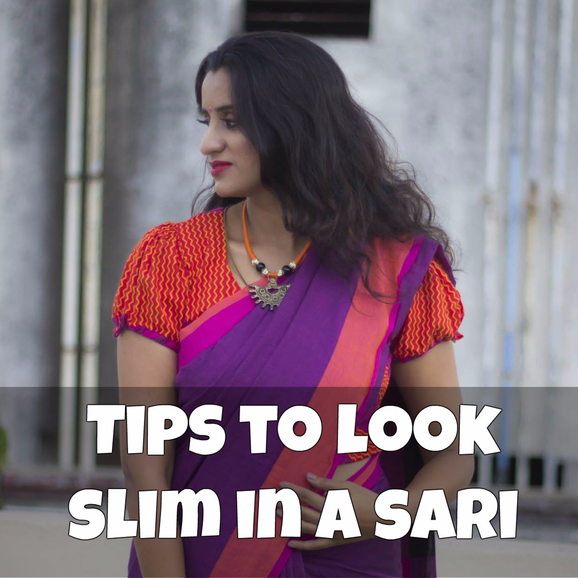 How to stitch blouses to look slim in a sari image