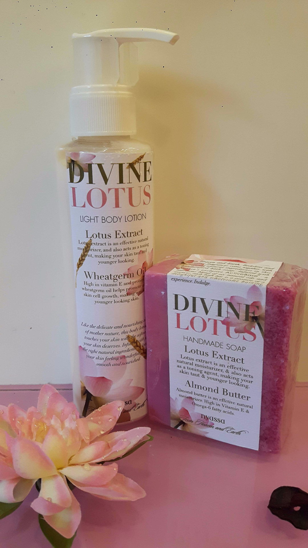 Nyassa Divine Lotus Handmade soap & Light Body Lotion Review image