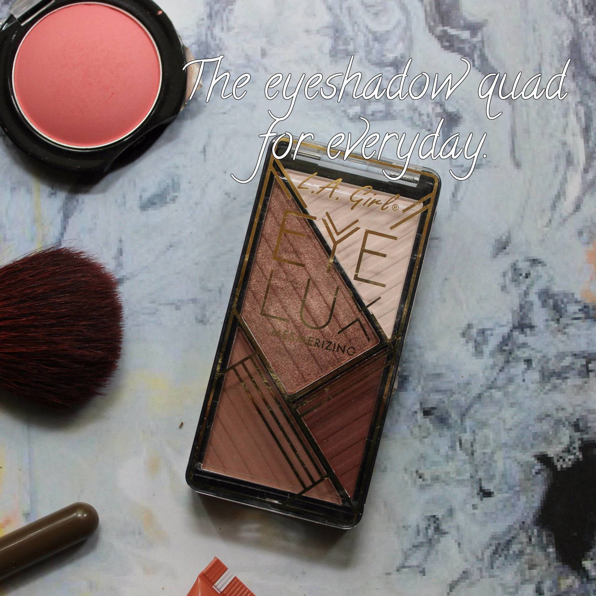 REVIEW: L.A Girl Eye Lux Eyeshadow quad in Eternalize image