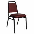 Stack Chair Vinyl Burgundy