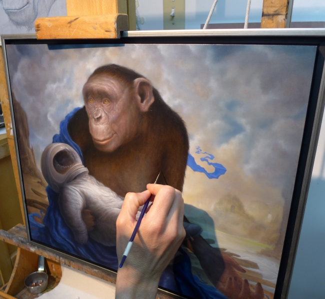 Studio wip by Artist Chris Leib