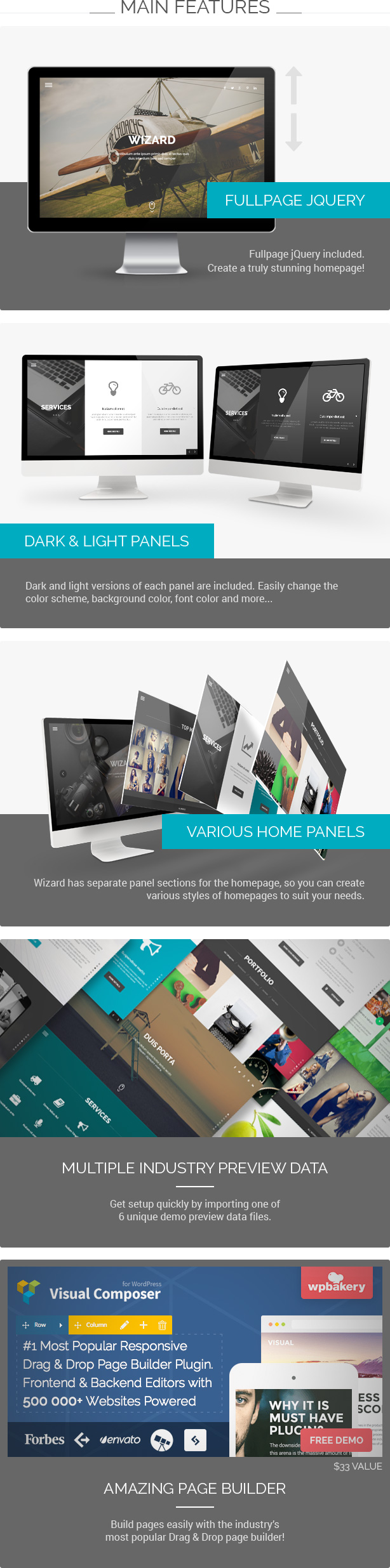 Wizard - Fullpage Portfolio WordPress Theme - 1