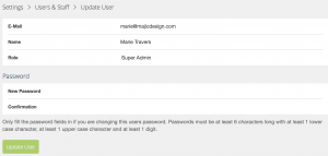 Screen Shot update user