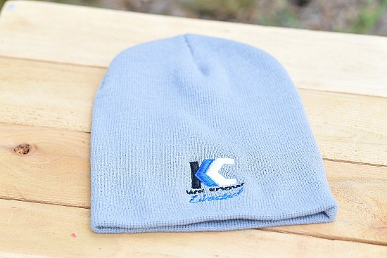 Gray Beanies with full color logo