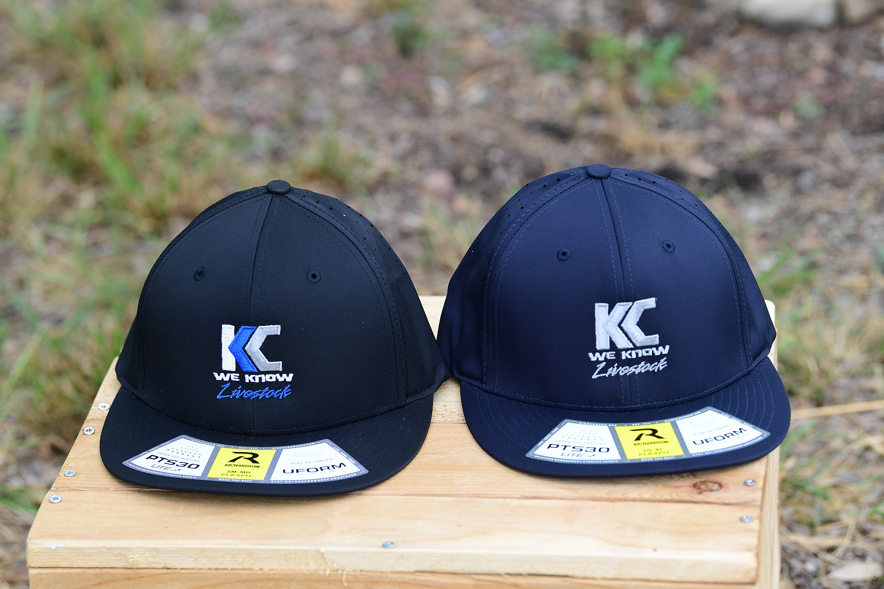 PT30 Fitted Hat Navy with Logo Size LG/XL | PTS30_KC5_3718.JPG