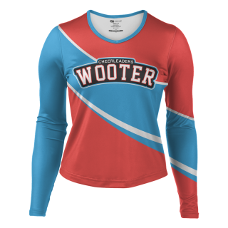 Long Sleeved Wide Neck Cheerleading Shells