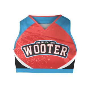 Sleeveless Cheerleading Crop Tops