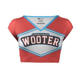 Short Sleeved V-Neck Cheerleading Crop Tops