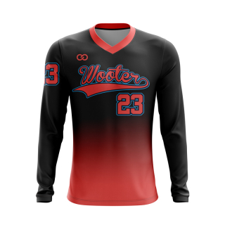 Baseball Long Sleeved V-Neck T-Shirts