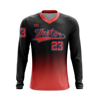 Baseball Long Sleeved V-Neck T-Shirts