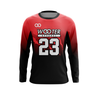 Long Sleeved Crew Neck Volleyball Jerseys
