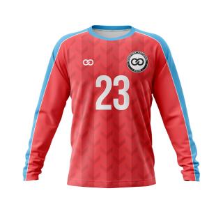 Long Sleeved Raglan Crew Neck Soccer Jerseys