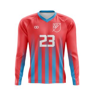 Long Sleeved Raglan V-Neck Soccer Jerseys