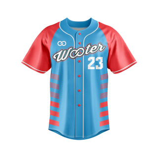 Raglan Button-Down Baseball Jerseys