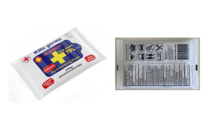 disinfectant wipes: 10 sheets, 75% Ethyl Alcohol, US FDA listed