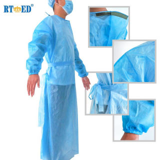 PP Disposable Gowns, CE Certified (AAMI Level 1)
