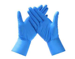 CE Certified, Blue Nitrile Examination Gloves (Medical Grade)