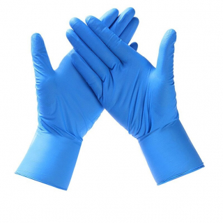 CE Certified, Blue Nitrile Gloves
