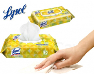 Lysol Disinfecting Wipes Flat Pack (80ct)