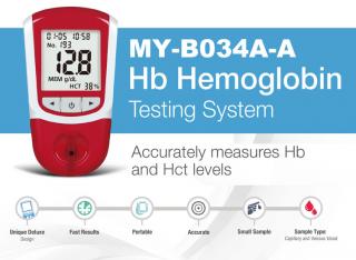 hb blood hemoglobin meter portable with strips