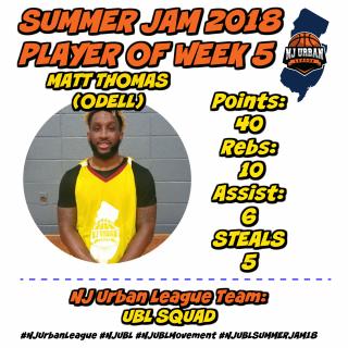 Week 5 Player of the week