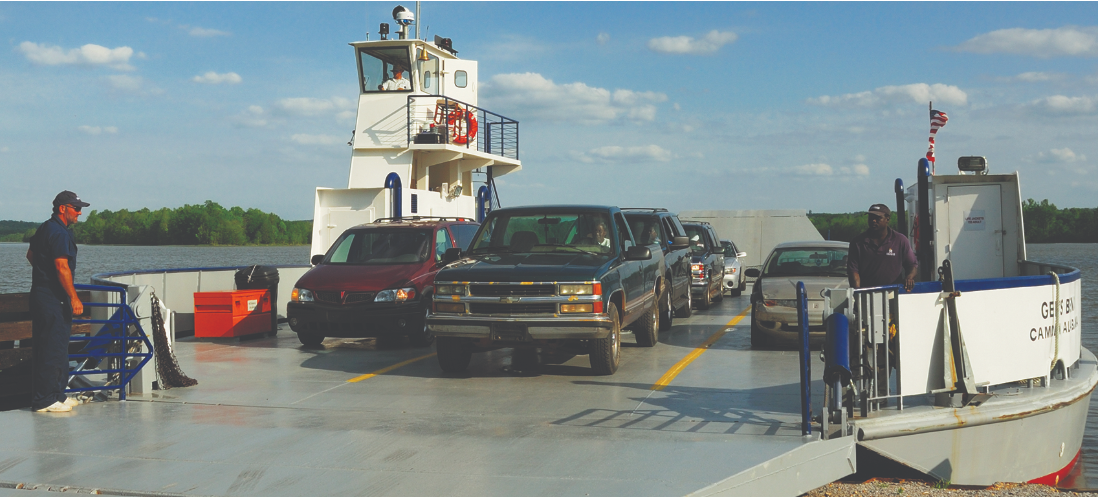 gees bend ferry schedule