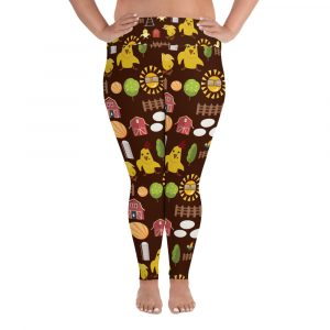 Muh Chicken Farm All-Over Print Plus Size Leggings