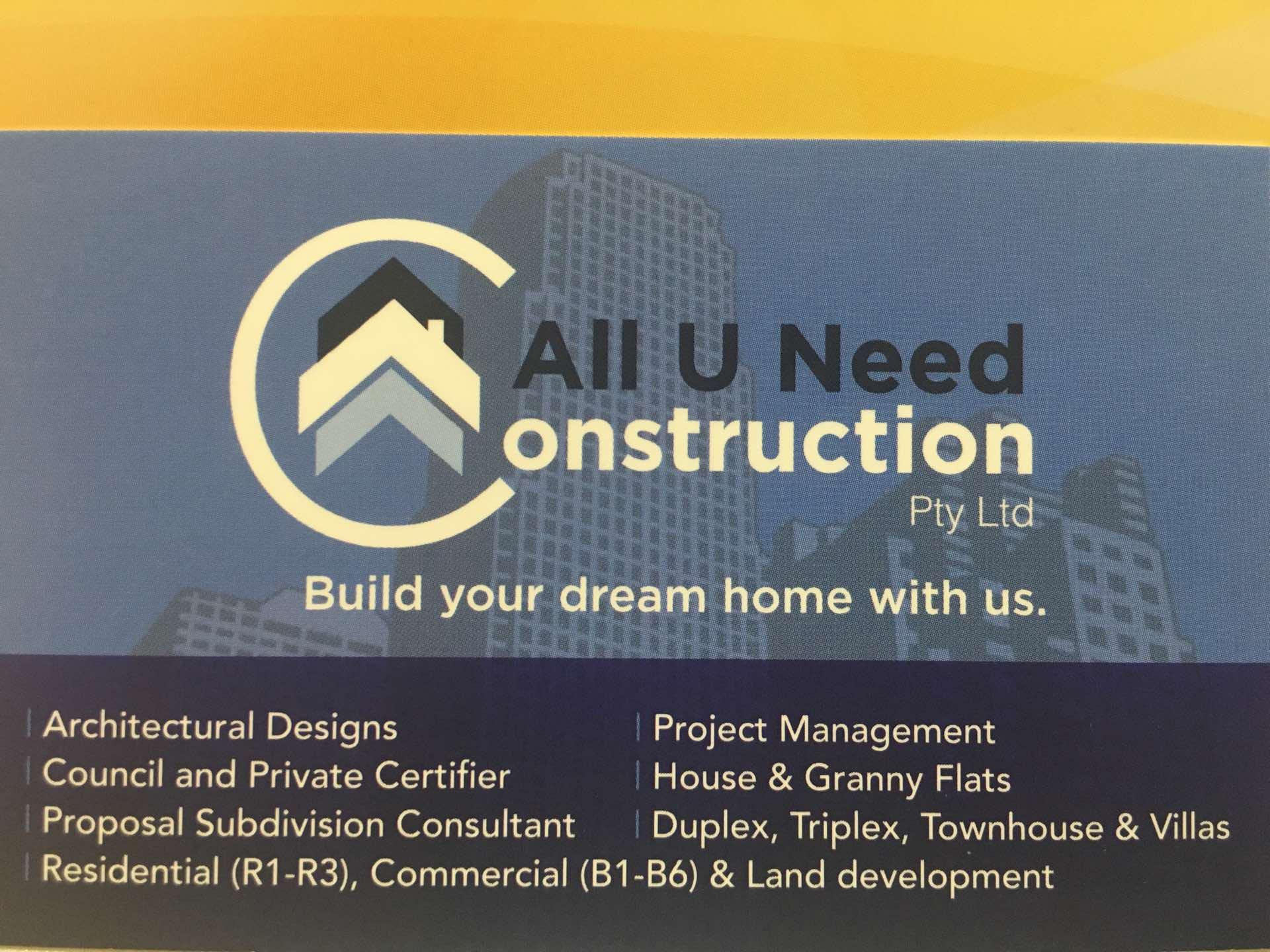 All U Need Construction - Ali Hunardost - 1 project