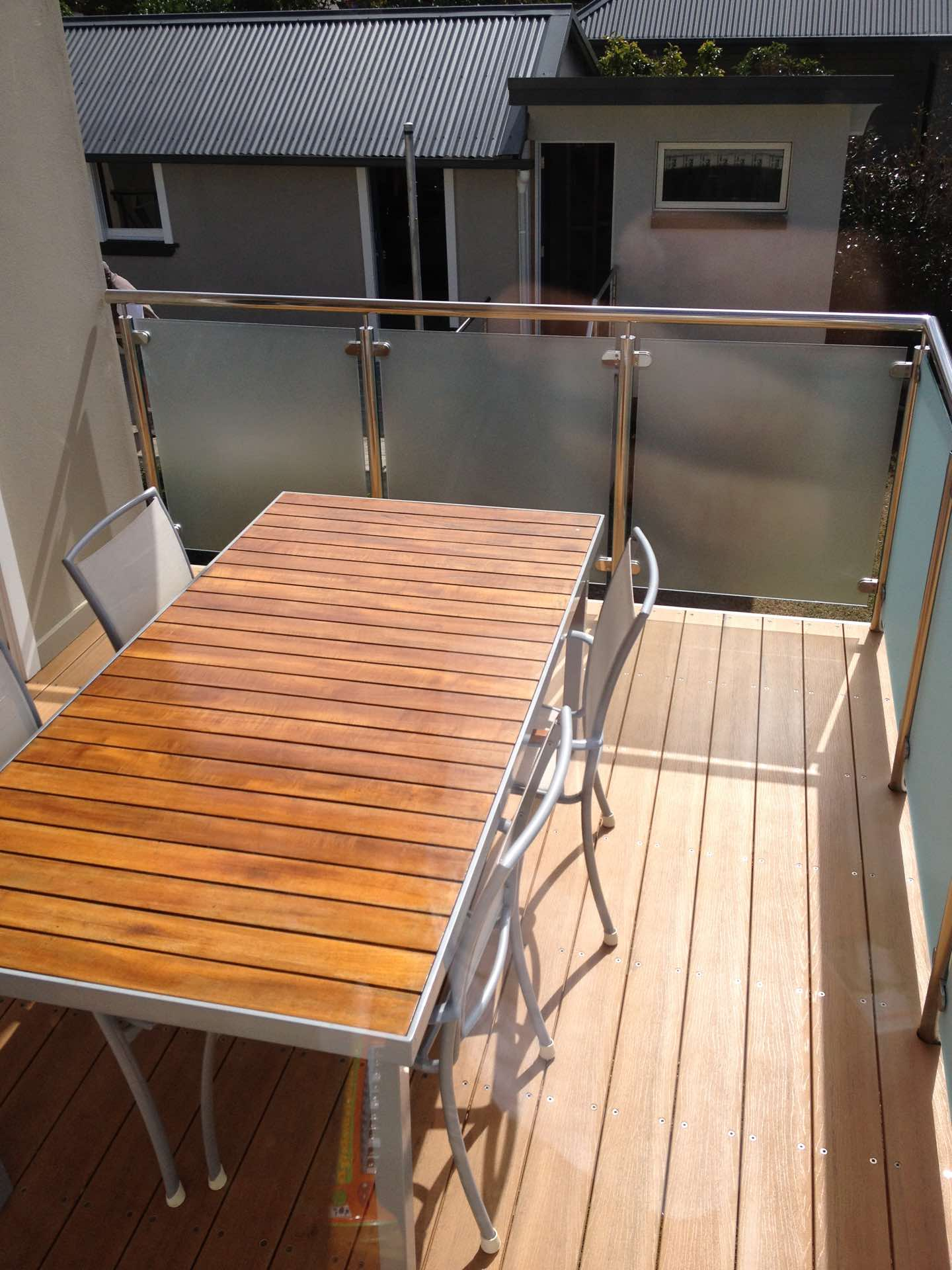 Rebuild and extension of existing deck and re use of handrail and balustrade.  Mod wood Allambie Heights, NSW