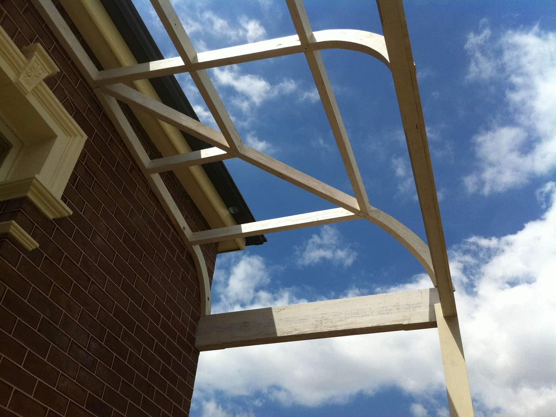 Hand made rolled roof frame Burwood, NSW