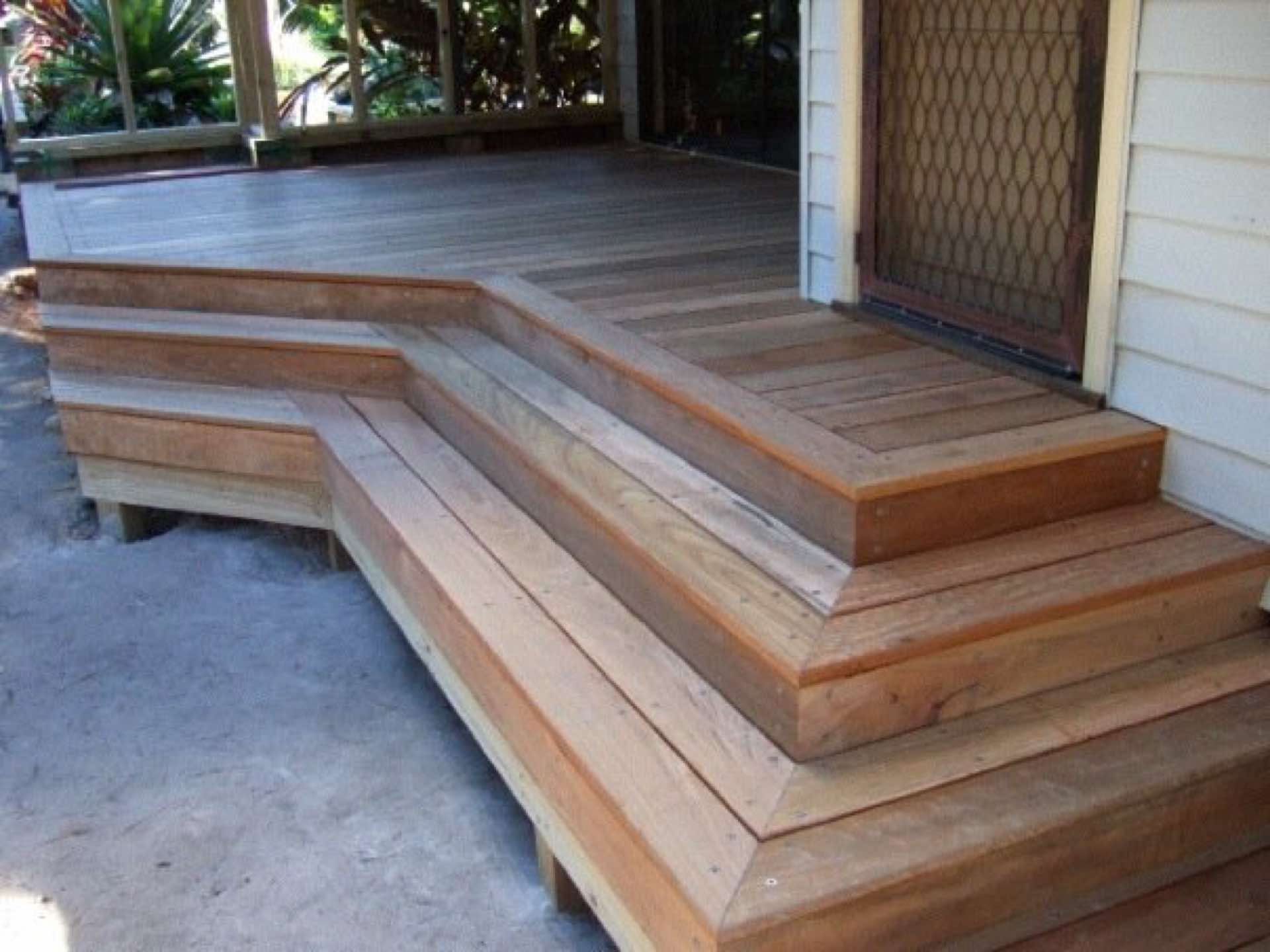 Spotted gum deck to front.  Ready for paving to finish it off Cromer, NSW