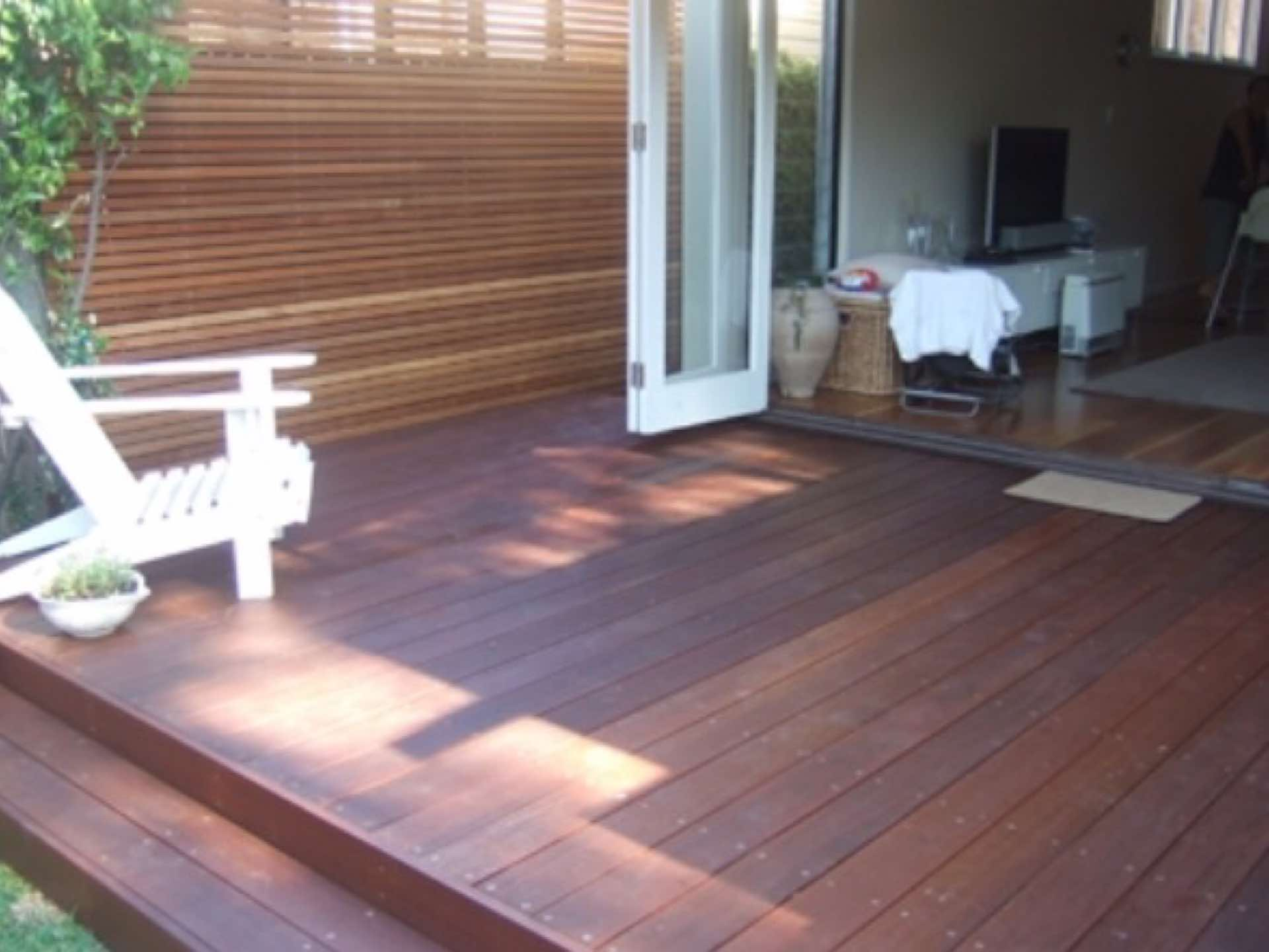Belian decking and privacy screen Manly, NSW