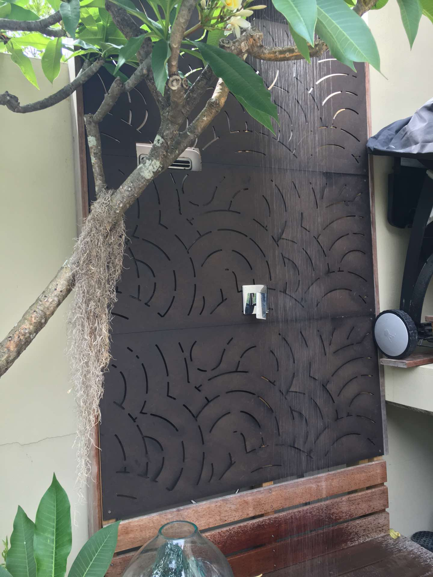 Outdoor fully plumbed shower with hot water Manly, NSW
