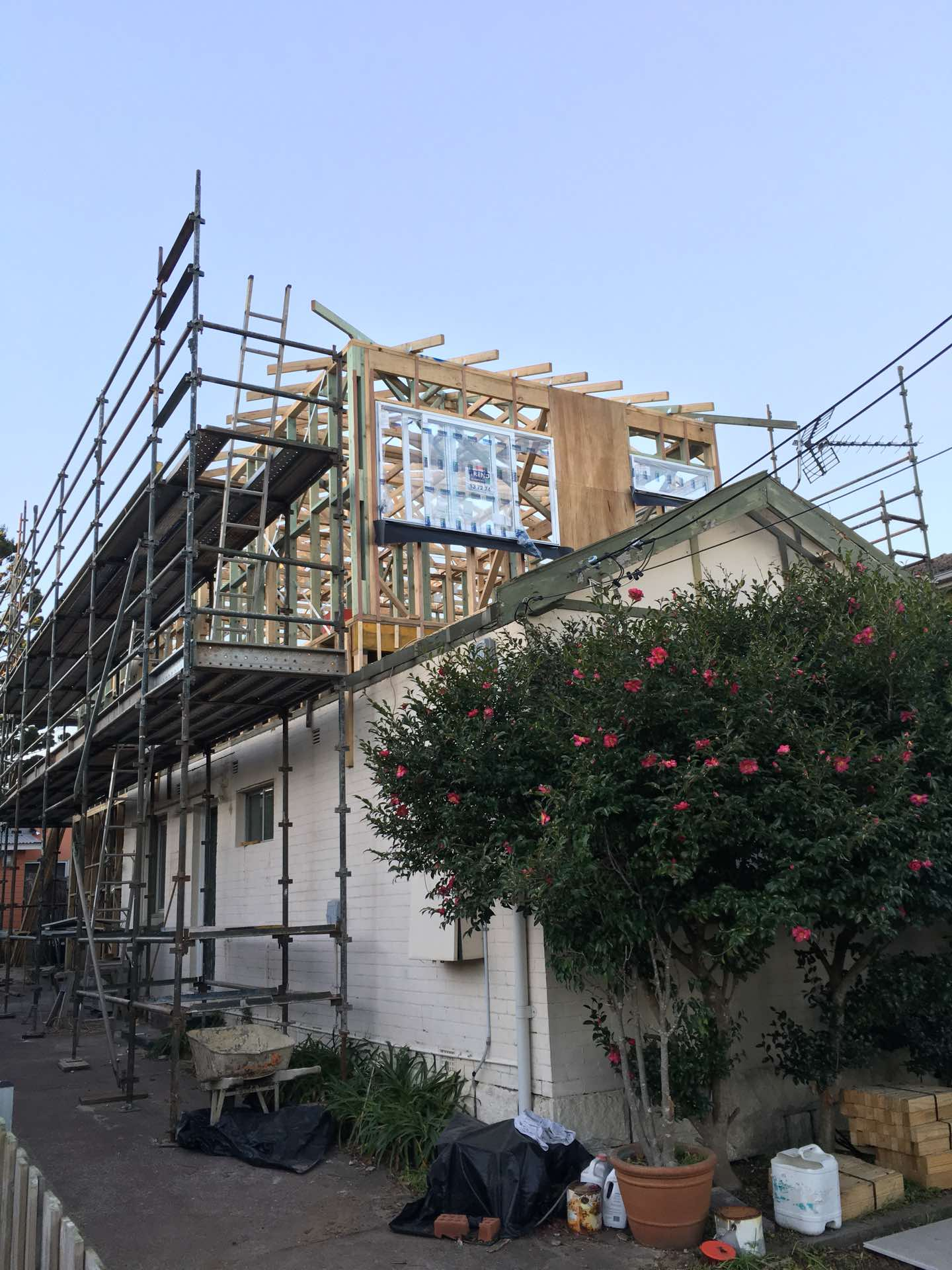 Adding a second storey and all new interior to existing house Manly Vale, NSW