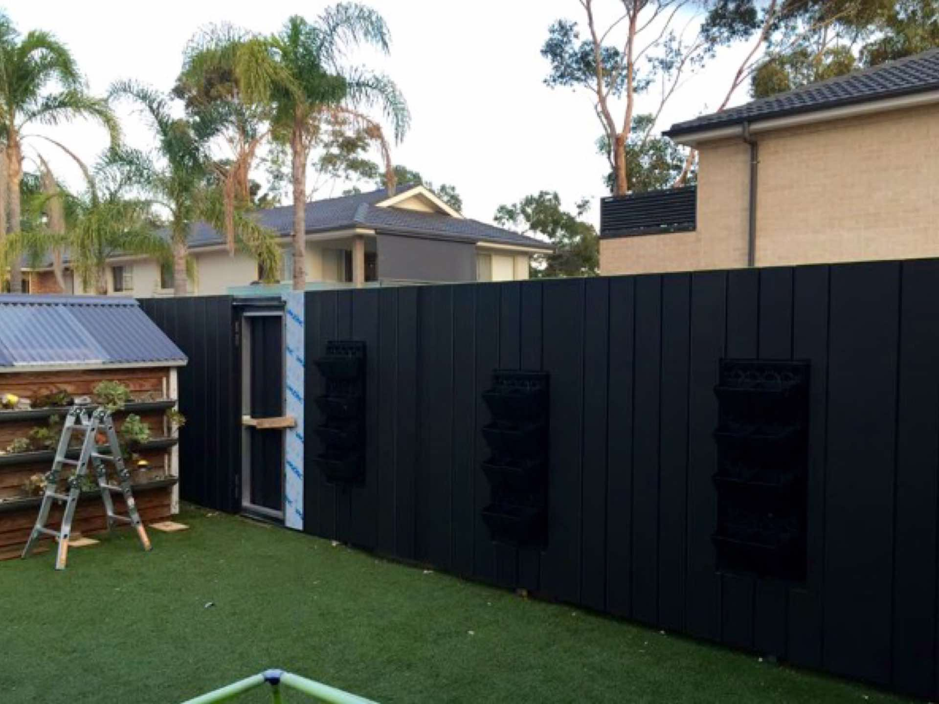 Ready for plants in vertical garden North Curl Curl, NSW