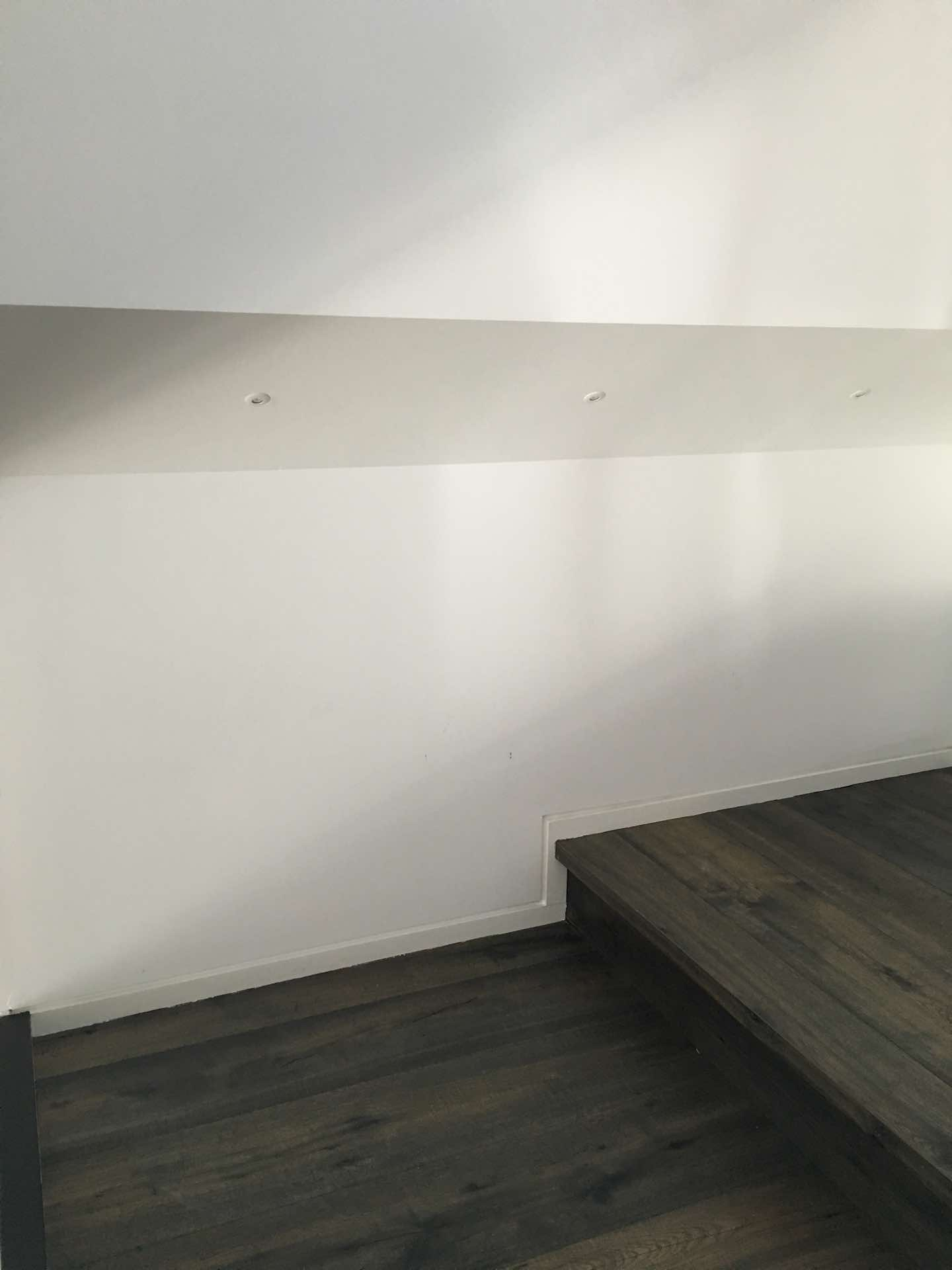 A nice rainy day project. Shelf made by owner out of left over Teak weatherboards. Nicely fills in what would have been an empty space North Curl Curl, NSW