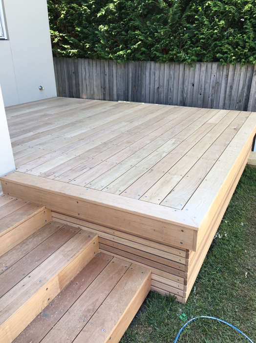 A couple of decks and a set of stairs to finish off a new home  North Curl Curl, NSW
